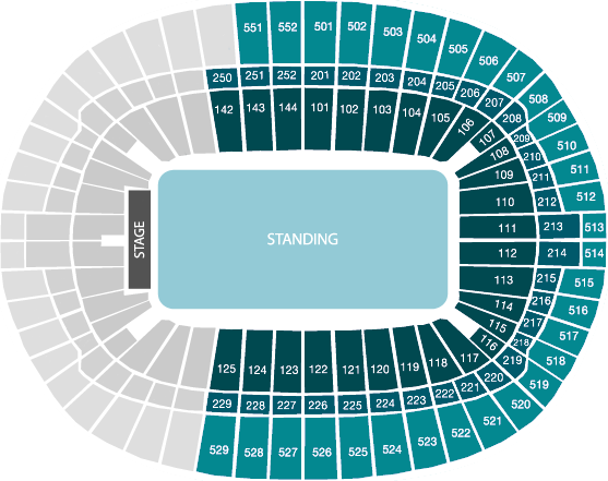 Wembley Seat Map View From Your Seat   Wembley Stadium